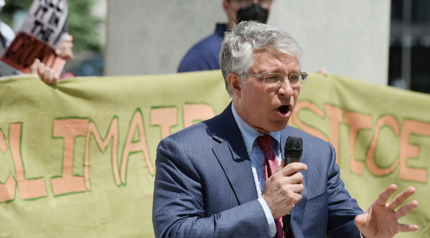 Assemblyman Phil Steck speaks at a press conference in Albany on May 18. He and AssemblymanAngelo Santabarbara put out a statement in opposition to the proposed kindergarten through Grade 5 Destine Preparatory Charter School.