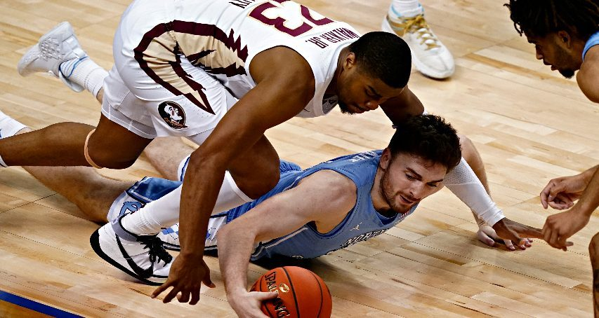 Andrew Platek is shown during a game for North Carolina. (The Associated Press)