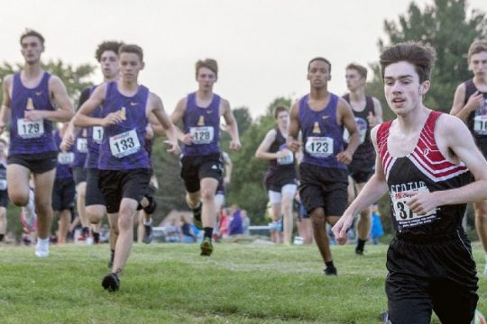 The start of the Foothills Council boys' cross country meet at Broadalbin-Perth High School on Tuesday.