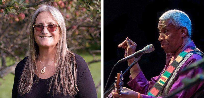 Judith Prest of Spirit Wind Studio and musician Reggie Harris.