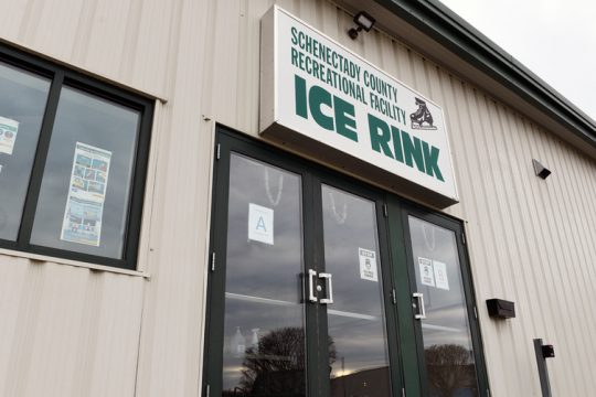 Schenectady County Area Recreational Facility ice rinkis shown.