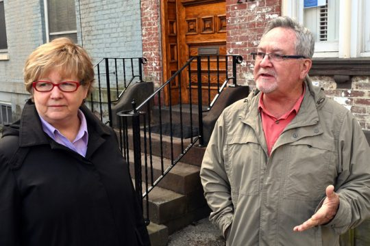 Stockade Neighborhood Association President Suzanne Unger, left, is seen with her husband Rich in 2019.