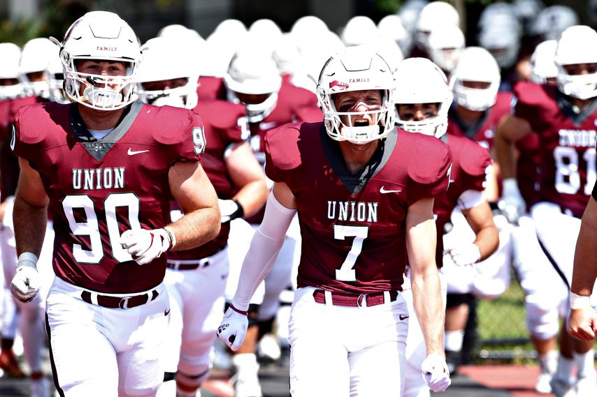 The Union College football team faces Springfield at 4:30 Saturday at Frank Bailey Field.
