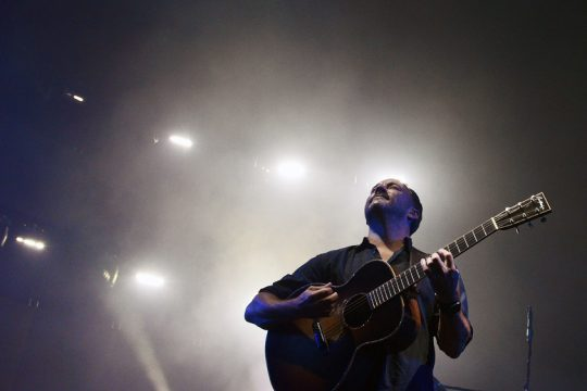 ERICA MILLER/THE DAILY GAZETTE   Dave Matthews performs on stage at SPAC in Saratoga Springs on Friday.