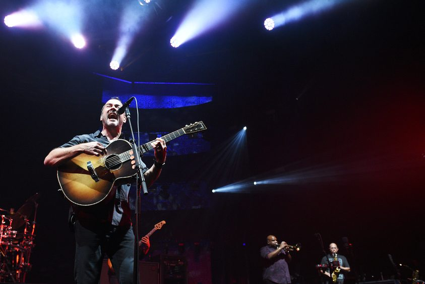 Dave Matthews Band performs on stage at SPAC in Saratoga Springs on Friday.