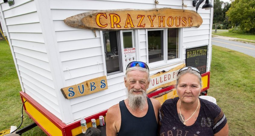 Tom and Gladys Fogerty are seen in front of their roadside restaurant at Maxon Road Extension and Alexander Street in Schenectady