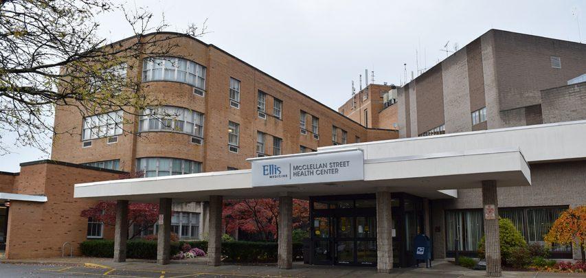 Entrance to Ellis Medicine McClellan Street Health Center, which was St. Clare's Hospital. (Gazette file photo)