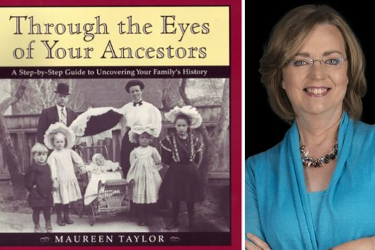 Maureen Taylor anda guide to family history for children that she wrote in 1999. (photos provided)