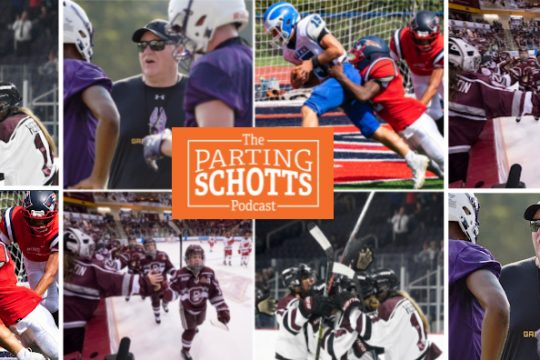 UAlbany football, high school football, an interview with new Union College women's hockey assistant coach Breanne Wilson-Bennett and a preview of the women's ECAC Hockey season are thetopics on the latest 'The Parting Schotts Podcast.'