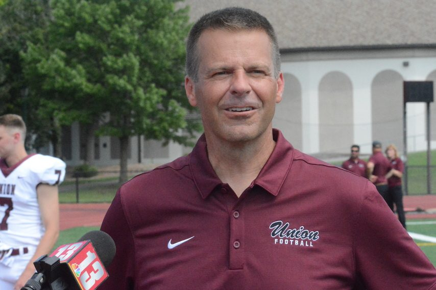 Union College football coach Jeff Behrman's team improved to 4-0 with a 30-9 win Saturday at Utica College.