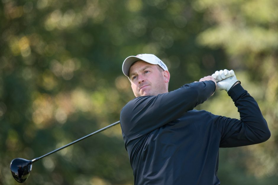 Jim Gifford of Mohawk Golf Club is tied for third heading into the final round of the 37th annual NYS Men's Mid-Amateur Championship at Shaker Ridge CC. He's five shots behind Carl Schimenti of Cornell University Golf Course. (NYSGA photo)