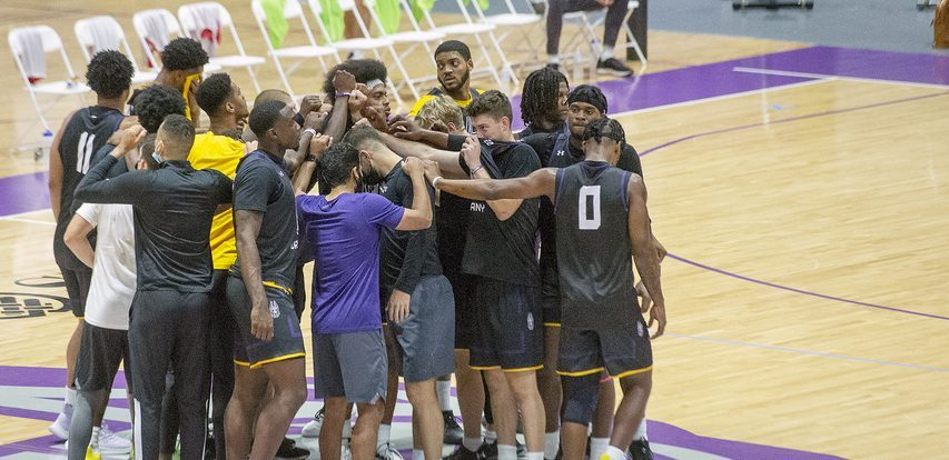 UAlbany men's basketball started practice at SEFCU Arena in Albany on Tuesday, September 28, 2021.