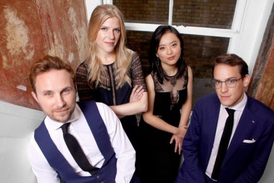 The Doric Quartet, pictured, with guest pianist Jonathan Biss, will open the Capital Region Classical season at 3 p.m. Sunday, Oct. 10, at Union College's Memorial Chapel. (photo provided)