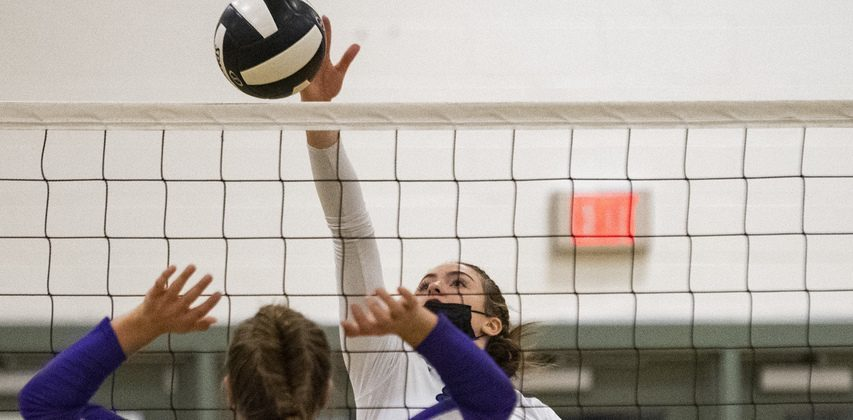 Shenendehowa's Heather Junjulas gets the ball past Troy's Addie Borowski Tuesday, October 5, 2021.