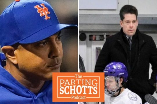 The New York Mets fired manager Luis Rojas, left, on Monday;TJ Manastersky is the new Union College men's hockey assistant coach.