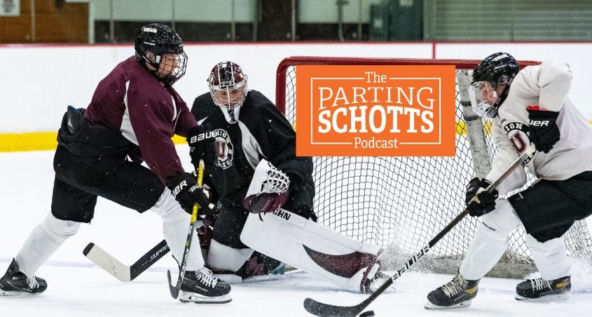 Union College goalie Garrett Nieto is featured on the latest edition of 'The Parting Schotts Podcast.'