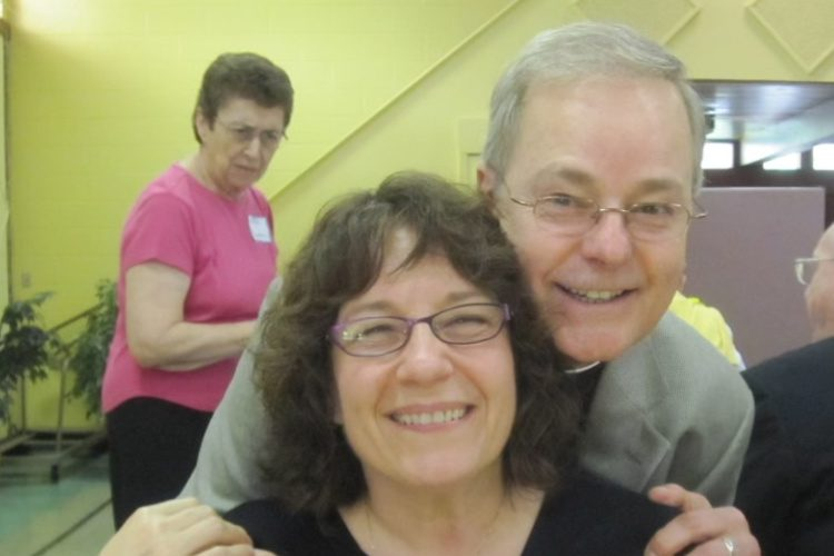Father Jerome Gingras is pictured with Fran Rossi Szpylczyn. (Photo provided)