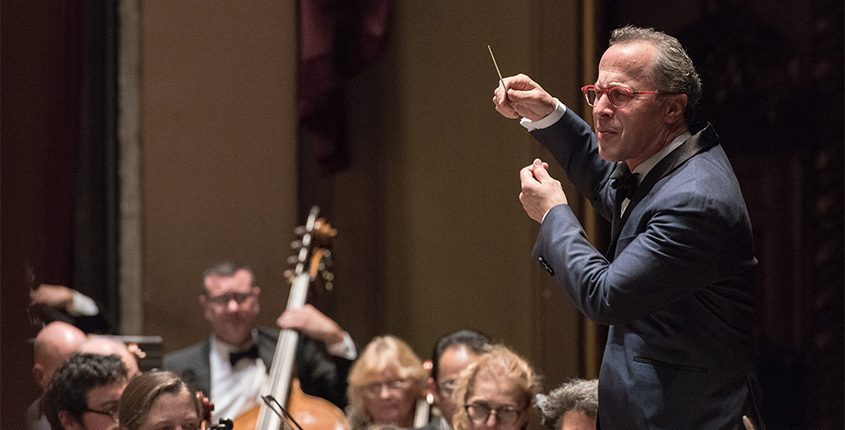 David Alan Miller conducts the Albany Symphony Orchestra in this file photo. (Photo provided)
