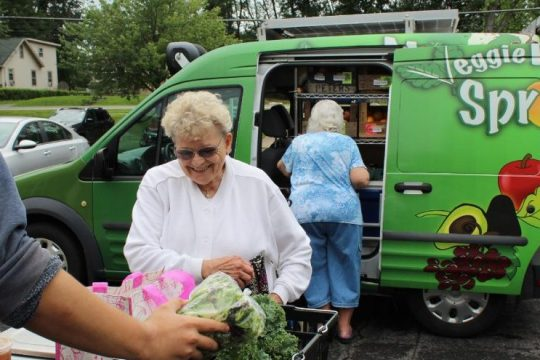 Capital Roots' Veggie Mobile Sprout stops at Holly Manor on Curry Road in Schenectady County recently. The fresh produceseller has expanded its reach in the region.