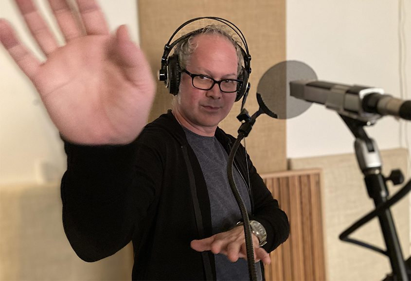 Christopher Peifer in the recording studio. (photo provided)