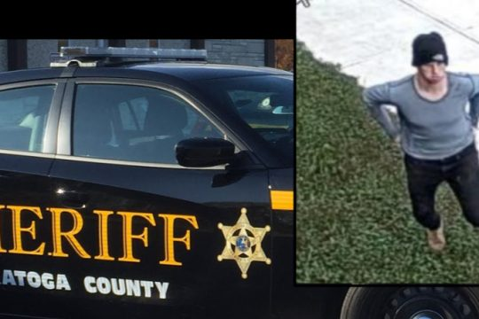 The surveillance image released Thursday - Credit: Saratoga County Sheriff's Office