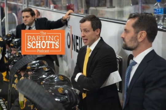 First0year Colorado College head coach and former Union goalie Kris Mayotte discusses returning to campus this weekend on 'The Parting Schotts Podcast.'