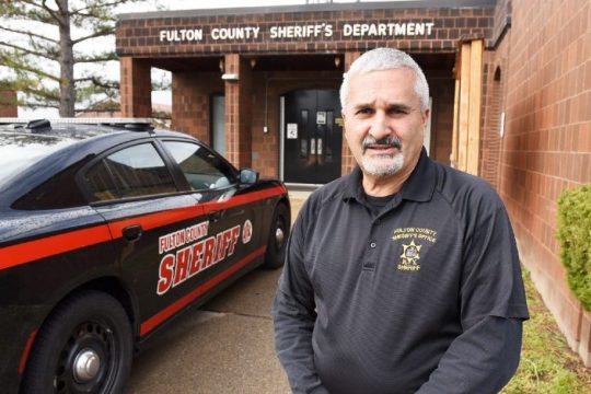 Fulton County Sheriff Richard Giardino stands in front of his office in Johnstown in 2020.