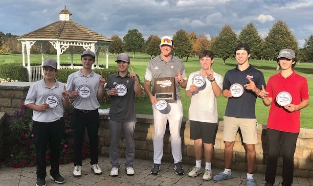 Niskayuna squeezed past Shenendehowa on the second tiebreaker to win the Class A boys' golf title Thursday at Fairways of Halfmoon.