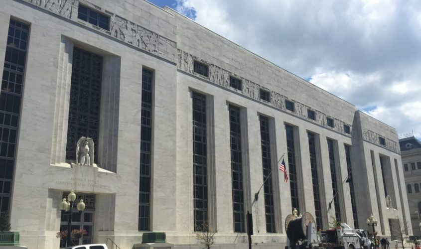 This photo shows the federal courthouse in Albany.