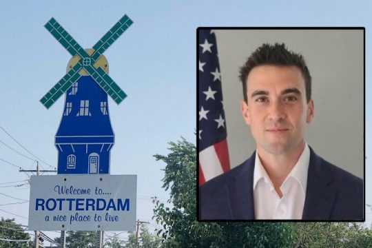 Joe Mastroianni is running for Rotterdam Town Board. Inset Photo Provided