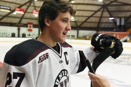 Josh Kosack and the Union College men's hockey team plays two games at Lake Superior State this weekend.