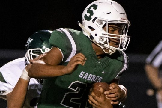 Schalmont quarterback Sean Willis isshown during a game Friday, September 10, 2021.
